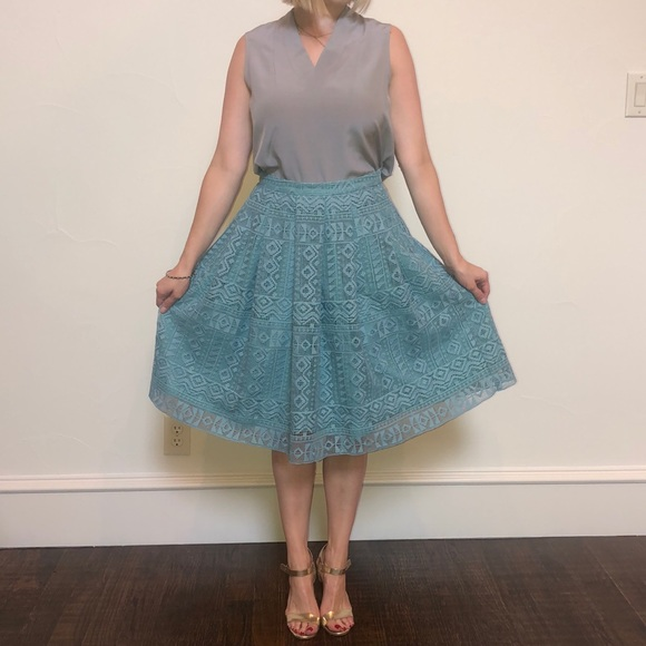 Champagne Dresses & Skirts - Champagne and Strawberry turquoise skirt.